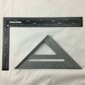 """METAL ROOFING RAFTER SET SQUARE 300mm x150mm 6"""" SPEED SQUARE ALLOY RAFTER GUIDE"""