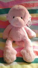 """NWT Monkey pink GUND Baby G plush lovey stuffed animal toy13"""" meme lovey pastel"""