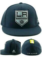 Los Angeles Kings New Adidas Gray Black Stripe Trucker Mesh Era Snapback Hat Cap