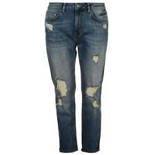 Firetrap Blackseal Boyfriend Jeans Size 32 S Mid Wash Blue LF076 OO 02