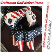 USA Flag CRAFTSMAN Defeted Covers Putter Cover Cover Headcover driver Mid Mallet