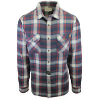 Rip Curl Men's Navy Red Cream Plaid L/S Flannel Shirt (S13)