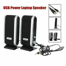 2Pcs Speakers For PC Laptop Computer Desktop Portable USB Stereo Speakers System