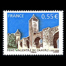 "France 2008 - Tourism ""Valentré Bridge in Cahors"" Architecture - Sc 3435 MNH"