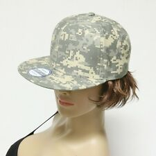 Mens Baseball Cap Flat Bill Snap back Military Hunting Hiking Tactical Camo Hat