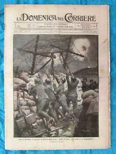 La Domenica del Corriere 9 aprile 1916 WW1 Cavallo di Frisia - Neve - Cadorna