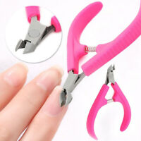 1pc Nail Art Red Stainless Steel Cuticle Manicure Cutter Nippers Clipper Tool CA
