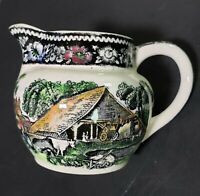 1910-1932 WR Midwinter Rural England Hand Painted Transfer Mini Ceramic Pitcher