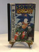 Sega Saturn Sonic 3D Blast Complete Box Manual Reg Card Rare Tested Working