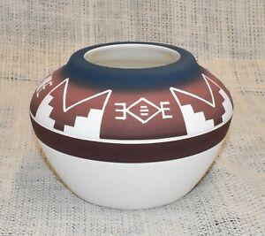 Lakota Sioux Pottery Native American Hand Made Lakota Night Design Medicine Bowl