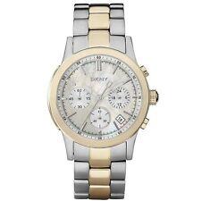 DKNY Uhr NY8061 Damen Chronograph Edelstahl Silber Gold Armbanduhr Datum Quarz