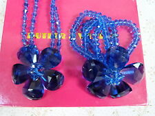 BUTLER & WILSON NECKLACE WITH MATCHING BRACELET BLUE