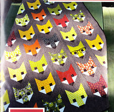 Fancy Fox - fun modern pieced quilt PATTERN - 3 sizes - Elizabeth Hartman