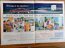 1957 Greyhound Bus Ad Have Fun all the Way on A Greyhound Tour