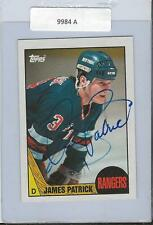 James Patrick 1987 Topps Autograph #18 Rangers