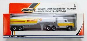 2002 Matchbox Convoy Mack CH600 WHITE / YELLOW / SHELL GASOLINE