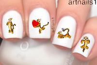 Disney Tigger Winnie the Pooh Bear Nail Art Water Stickers Manicure Salon Polish