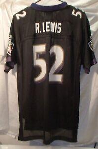 Ray Lewis Baltimore Ravens Black Reebok Football Jersey Youth Size XL