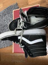 Size 10- VANS Sk8-Hi Black White