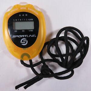 New Sportline 240 Stopwatch Split 1/100 Time Alarm Time Day Date