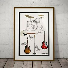 More details for the rolling stones kit & guitars two framed three print options jagger new 2021
