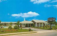 Perry Georgia GA 1960s Postcard Crossroads Motel Sign Pool