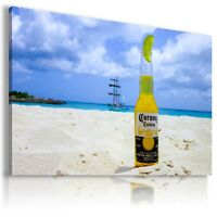 CORONA BEERS DRINKS ALCOHOL BEACH Canvas Wall Art Picture DR93 MATAGA .