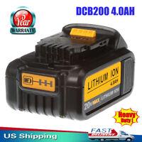 DCB205-2 For DeWalt DCB200 20-Volt MAX XR4.0Ah Lithium-Ion Power Tool Battery US