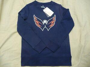 NWT Fanatics Washington Capitals NHL Crewneck Pullover Sweatshirt Adult Men's S