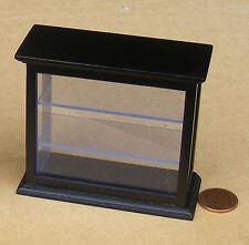 1:12 Scale Black Finish Display Case Doll House Miniature Shop Furniture 1559