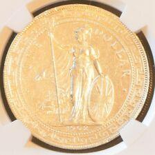 1902 B China Hong Kong UK Great Britain Silver Trade Dollar NGC AU Details