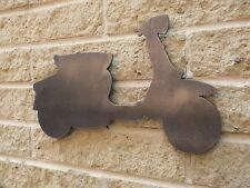Vintage Italian Scooter Mild Steel, for Weather vanes or Features in Gates