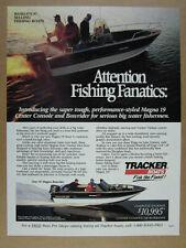 1991 Tracker Magna 19 Center Console & Bowrider Fishing Boats vintage print Ad