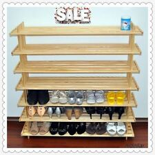 USA PINE TIMBER SHOE RACK SHELF STAND 35 PAIRS 516CD 6 CUBE FREE STANDING 9.6KG