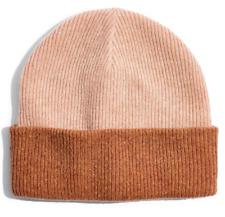 BRAND NEW Madewell Women's 100% Merino Wool Reversible Cuff Beanie Hat