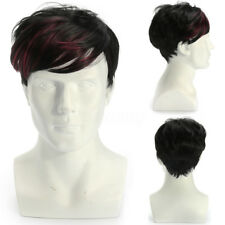 Cool Layered Style Fashion Men Human Hair Wig Natural Looking Wigs Short Hair