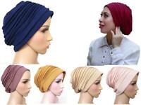 stylish Turban hats underscarf cap hijab, stretchy material chemo summer colors