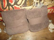 VINTAGE RALPH LAUREN GREENWICH BROWN CHOCOLATE (2) BATH TOWELS 28 X 52 COTTON