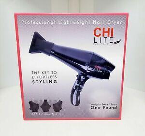 CHI LITE CARBON FIBER PROFESSIONAL LIGHTWEIGHT HAIR BLOW DRYER ROTATING NOZZLE