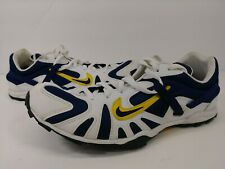 Vintage Nike 1999 Yellow Blue Track Spike Cleats Mens Size 9.5 Pat Pending Rare