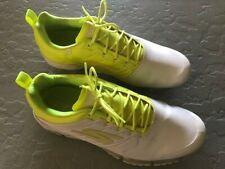 Men's Skechers White/Neon Yellow GoGolf Shoes - Size 10M