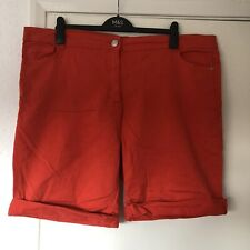 Pep & Co Orange Stretch Denim Shorts Size 20