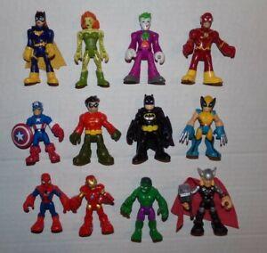 """12 Imaginext DC Super Friends Lot Batman Poison Hulk Thor  3"""" Figures LOT 7"""