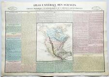 Amérique du Nord - Rare Atlas Universel des Sciences par Henri Duval de 1837