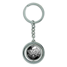 Cthulhu Spinning Round Metal Key Chain Keychain Ring