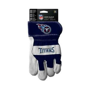 Tennessee Titans Work Style Leather Gloves [NEW] NFL Adult Warm Cotton Grip