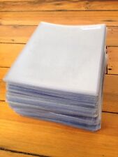 Huge Lot Of 93 Clear Thick Plastic Sleeve Art Artwork Covers 85x11
