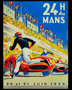 1959 24 Hour French Le Mans Grand Prix Wall Art Poster - 8x10 Photo