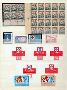 Usa Tonga Monaco Red Cross MNH MH +Blocks (Hux 513