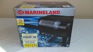 Black MarineLand Penguin 200 Power Filter Bio-Wheel Filter Multi-Stage